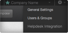 Helpdesk Integration in Settings Tab