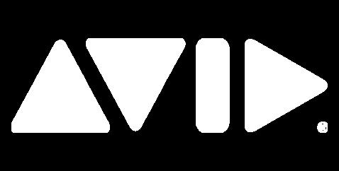 Avid White Logo